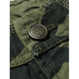 Camouflage Swallow Gird Cargo Pants - ARMY GREEN 34