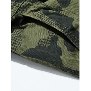 Camouflage Swallow Gird Cargo Pants - ARMY GREEN 36