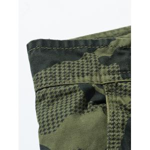 Camouflage Swallow Gird Cargo Pants - ARMY GREEN 38
