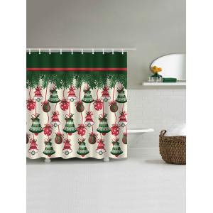 Christmas Bell Waterproof Shower Curtain - COLORMIX W59 INCH * L71 INCH