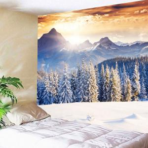 Wall Art Snow Mountains Forest Hanging Tapestry - Or Clair Largeur 59pouces*Longeur 51pouces