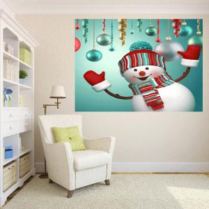 Multifunction Christmas Snowman Patterned Wall Art Painting - FRESH 1PC:24*35 INCH( NO FRAME )