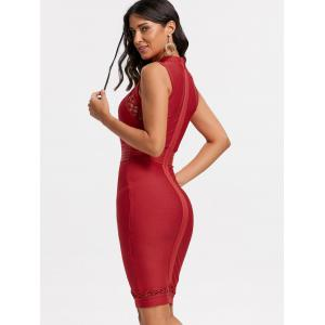 Cut Out Lattice Bodycon Bandage Dress -