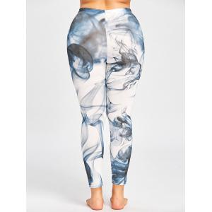 Skinny Plus Size Ink Painting Leggings -