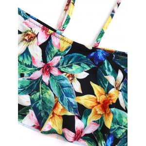 Cold Shoulder Floral Bikini with Flounce - COLORMIX XL