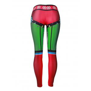 Leggings de flocon de neige Candy Christmas Party - Multicolore XL