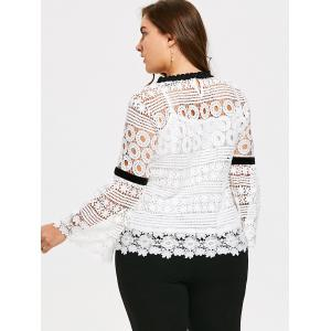 Plus Size Hollow Out Crochet Top with Cami - WHITE 2XL