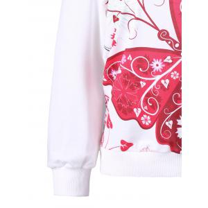 3D Butterfly Print Off The Shoulder Sweatshirt - WHITE M