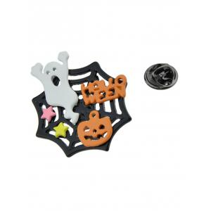 Halloween Diable Pumpkin Cobweb Ghost Brooch -