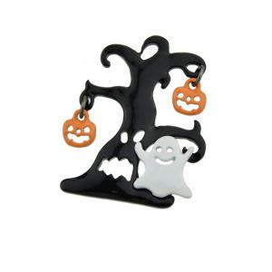 Halloween Tree Devil Pumpkin Ghost Brooch -