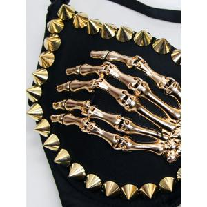 Studded Skeleton Bra -