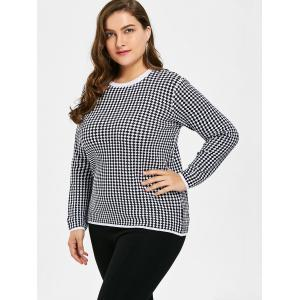 Plus Size Checked Graphic Knitwear -