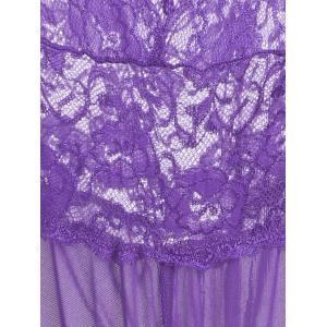 Plunge Lace Criss Cross Teddy -