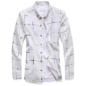 Chemise Checked Casual Down -