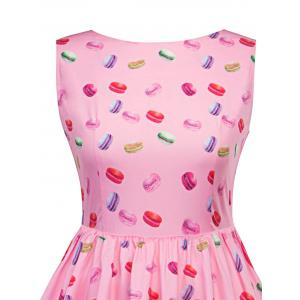 Vintage Macarons Print Pin Up Dress -