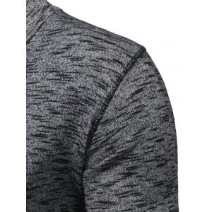 Shawl Collar Knit Blends Pullover Hoodie -