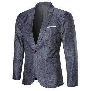 One Button Argyle Three-piece Business Suit -