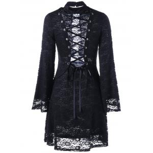 Retour Dress Tie-up Robe en dentelle gothique -