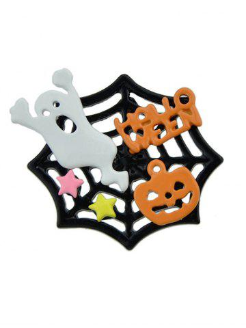 Affordable Halloween Devil Pumpkin Cobweb Ghost Brooch COLORMIX