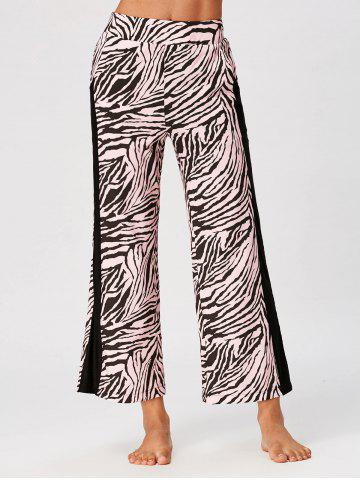 Cheap High Waist Tiger Stripe Casual Ninth Pants COLORMIX XL