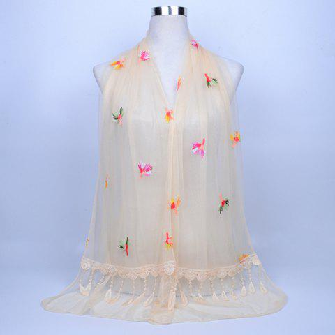 Affordable Dandelion Embroidery Lace Tassel Shawl Scarf - PALOMINO  Mobile