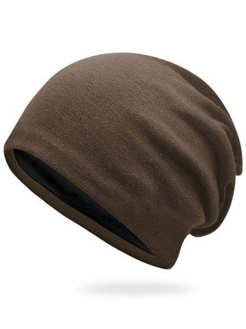Hot Autumn Knit Hat - COFFEE  Mobile