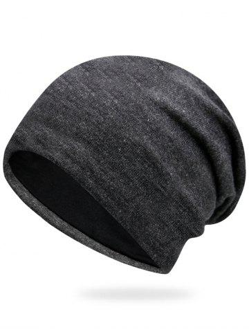 Affordable Autumn Knit Hat - DEEP GRAY  Mobile