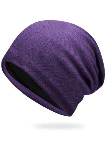 Best Autumn Knit Hat - PURPLE  Mobile