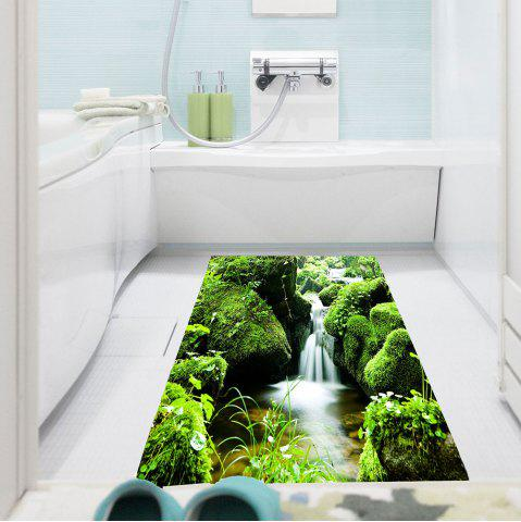 Best Waterproof Mountain Stream Patterned Wall Art Painting GREEN 1PC:24*35 INCH( NO FRAME )