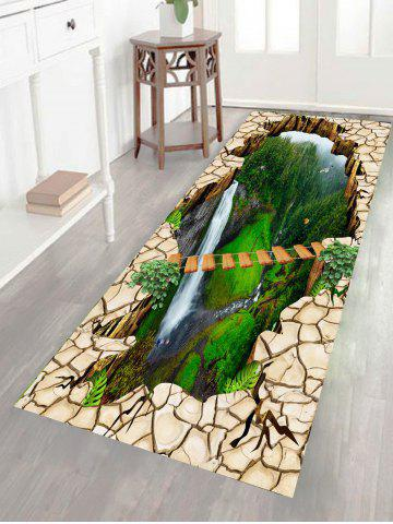 Cheap Multifunction Scenery Printed Stick-on Wall Art Painting GREEN 1PC:24*35 INCH( NO FRAME )