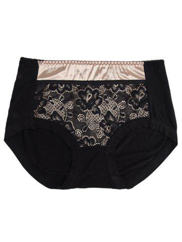 Shops Lace Panel Panties - ONE SIZE BLACK Mobile
