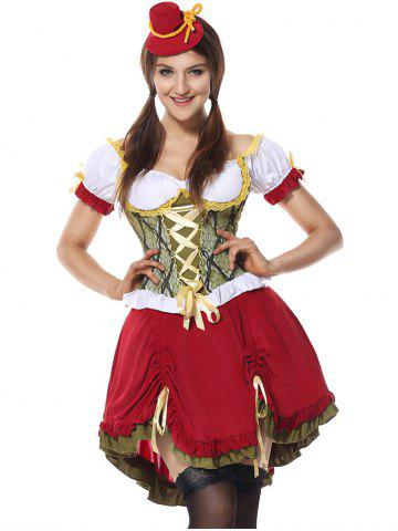 Shops Beer Festival Cosplay Costume RED L