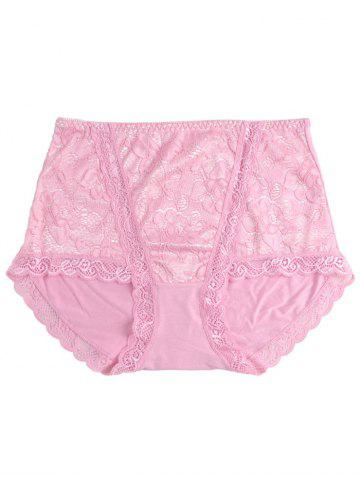 Unique Full Coverage Panties with Lace PINK ONE SIZE