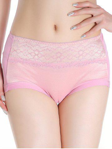 Shops Mesh Panel Lingerie Panties PINK ONE SIZE