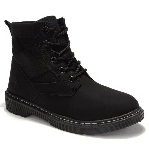 Affordable Stitching Splicing Ankle Boots BLACK 39