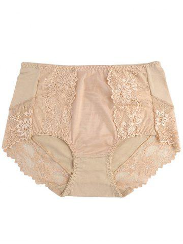 Trendy Lace Panel Lingerie Panties