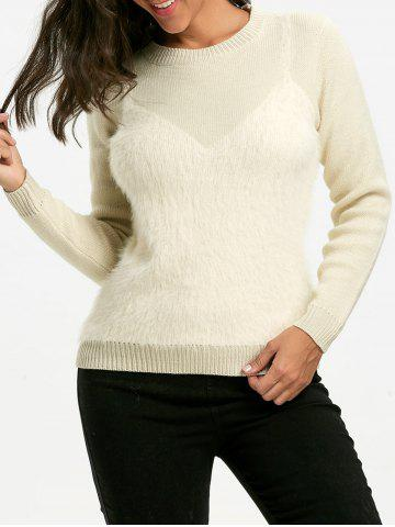 Sale Fluffy Faux Cami Sweater - ONE SIZE PALOMINO Mobile