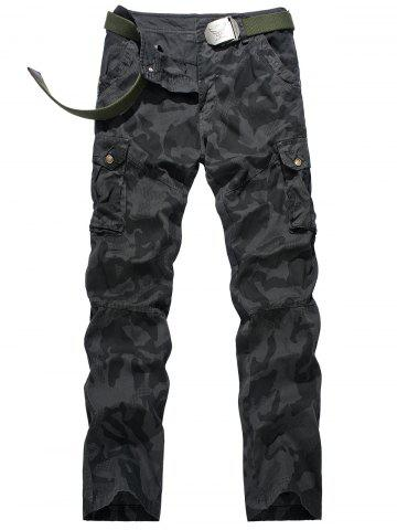Fancy Camouflage Swallow Gird Cargo Pants - 34 DEEP GRAY Mobile