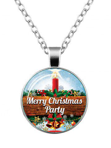 Latest Merry Christmas Bells Star Snowflake Necklace SILVER