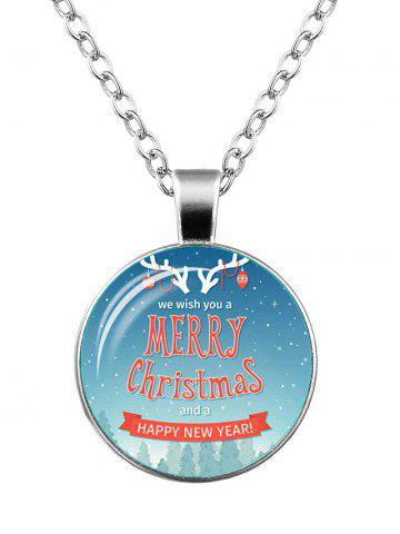 Best Merry Christmas Happy New Year Deer Necklace - SILVER  Mobile