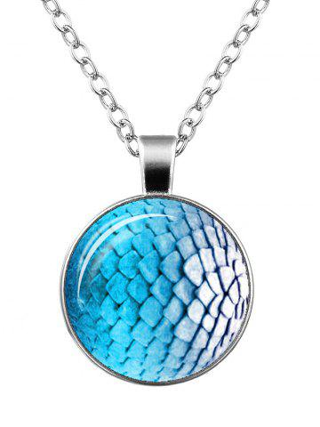 Store Dragon Scale Armor Round Necklace SILVER