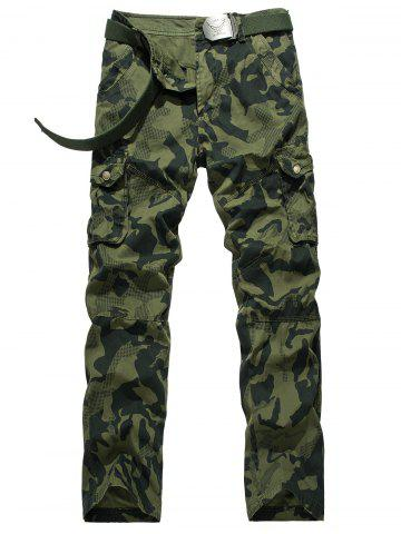 Online Camouflage Swallow Gird Cargo Pants ARMY GREEN 38