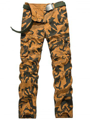 Shop Camouflage Swallow Gird Cargo Pants EARTHY 36