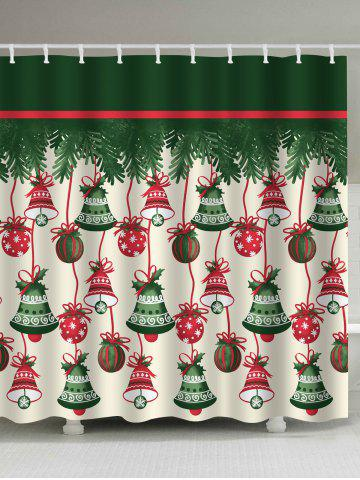 Fashion Christmas Bell Waterproof Shower Curtain - W59 INCH * L71 INCH COLORMIX Mobile