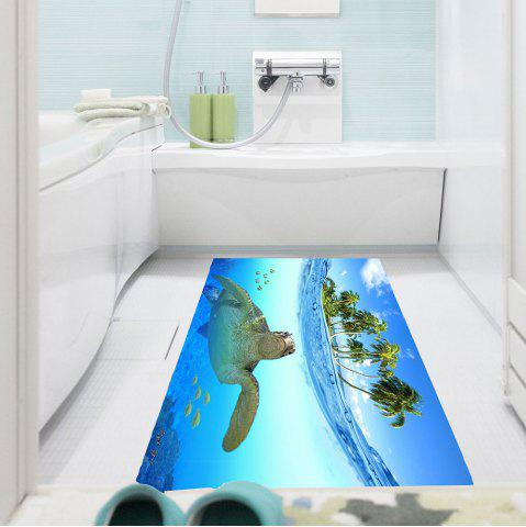 Chic Sea Turtle Pattern Waterproof Stick-on Wall Art Painting BLUE 1PC:24*35 INCH( NO FRAME )