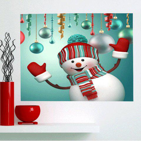 Shop Multifunction Christmas Snowman Patterned Wall Art Painting FRESH 1PC:24*35 INCH( NO FRAME )