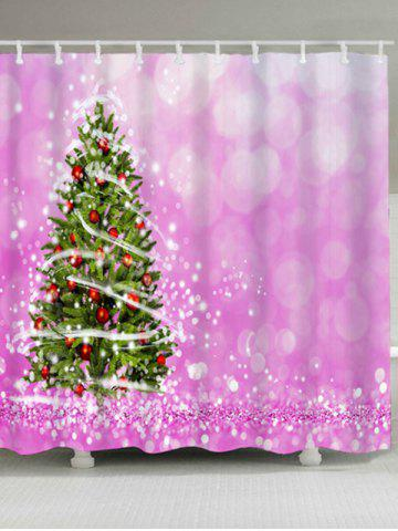 Shop Waterproof Fabric Christmas Tree Bath Curtain PINK W59 INCH * L71 INCH
