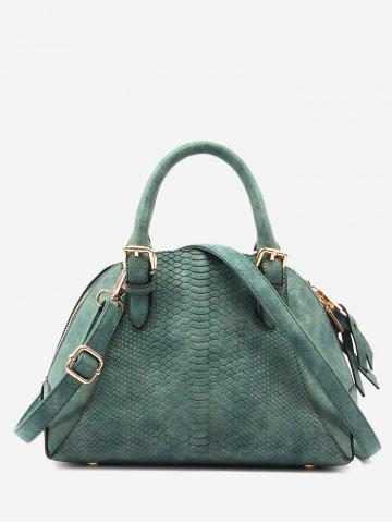 Chic Buckle Strap Shell Shape Crocodile Pattern Totes