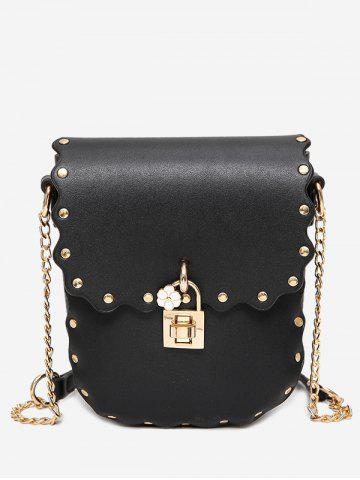 Affordable Rivet Chain Scallop Crossbody Bag