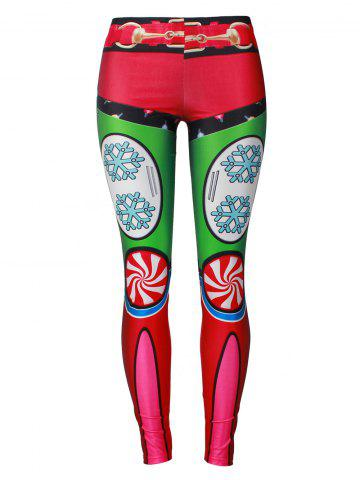New Christmas Party Candy Snowflake Leggings COLORMIX M